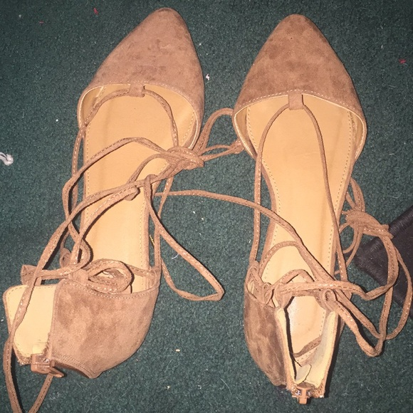 Shoes - Flats ankle lace up